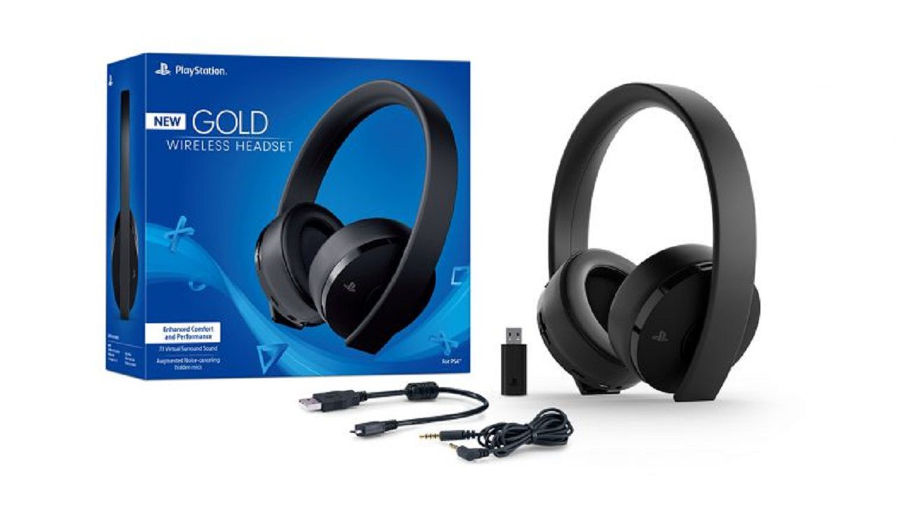Headset - New Gold Wireless 7.1 - Ps4 Playstation