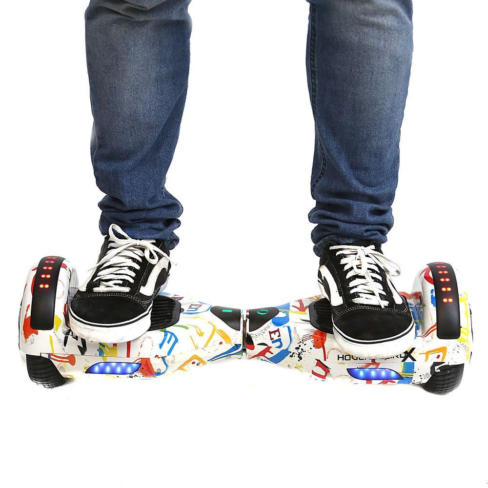 "Hoverboard 6,5"" Grafite Hoverboard BR Boards Bateria Samsung Bluetooth Smart Balance"