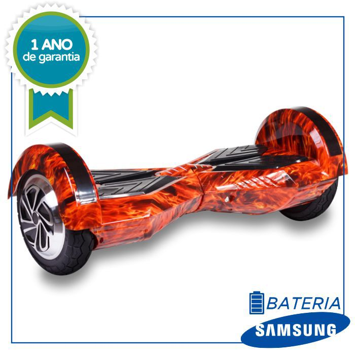 Hoverboard Skate Elétrico fire (fogo) Smart Balance Wheel 6,5 Polegadas