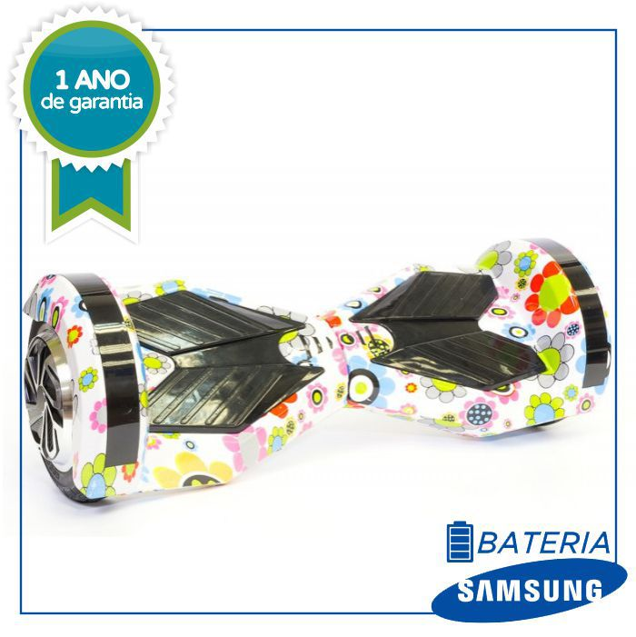 Hoverboard Skate Elétrico Flor Smart Balance Wheel 6,5 Polegadas