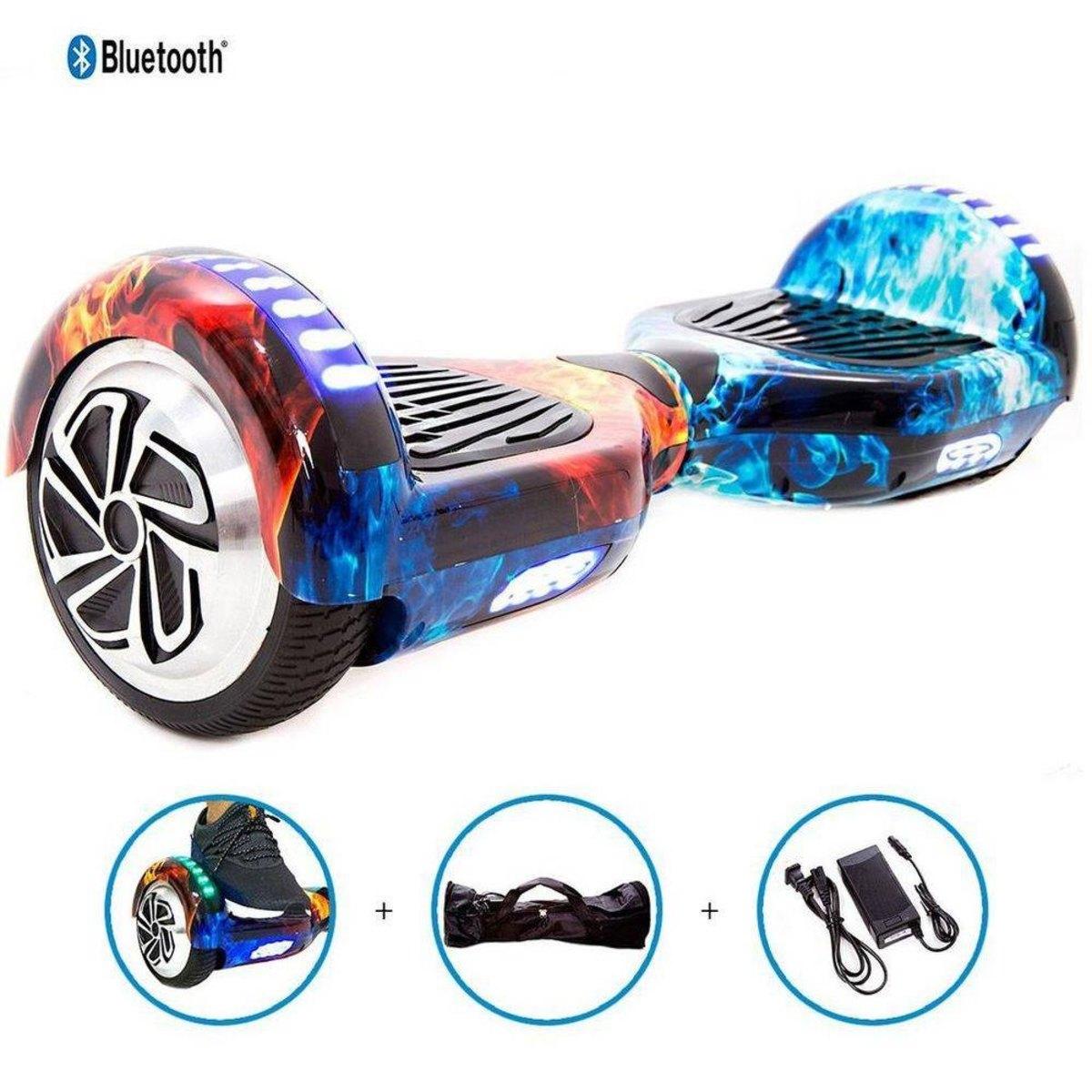 Hoverboard Skate Elétrico Fogo e gelo Smart Balance Wheel 6,5 Polegadas