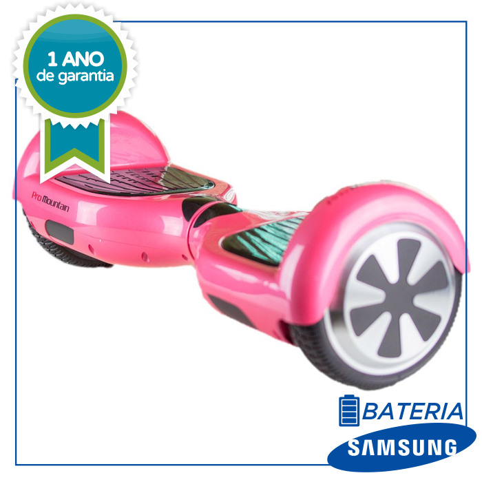 a054b19a569 Hoverboard Skate Elétrico ROSA Smart Balance Wheel 6