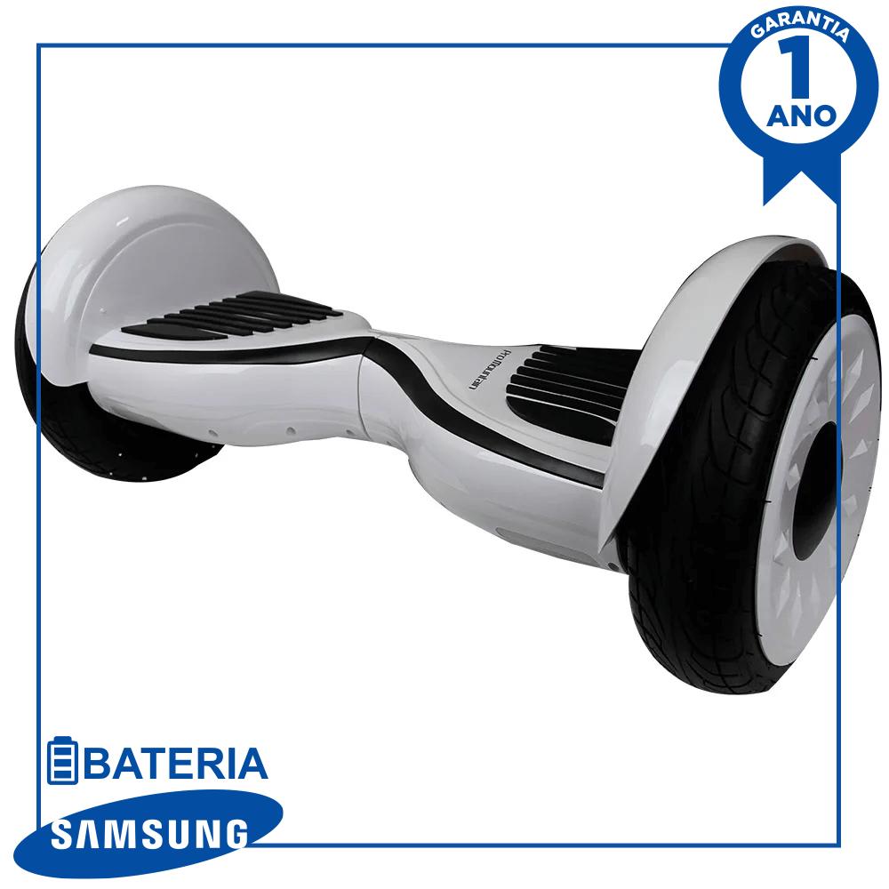 "Hoverboard Skate Elétrico Scooter eletrico smart balance pro mountain cs-102 10"" - branco"