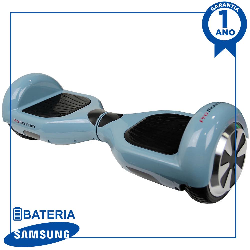 "Hoverboard Skate Elétrico Scooter eletrico smart balance pro mountain pm-01 6.5"" com bluetooth e bolsa - cinza"