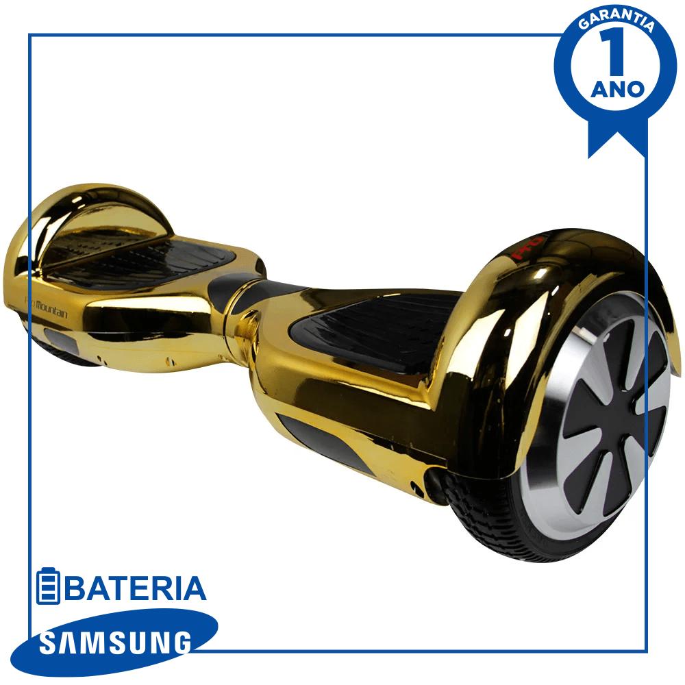 "Hoverboard Skate Elétrico Scooter eletrico smart balance pro mountain pm-01 6.5"" - dourado chroma"