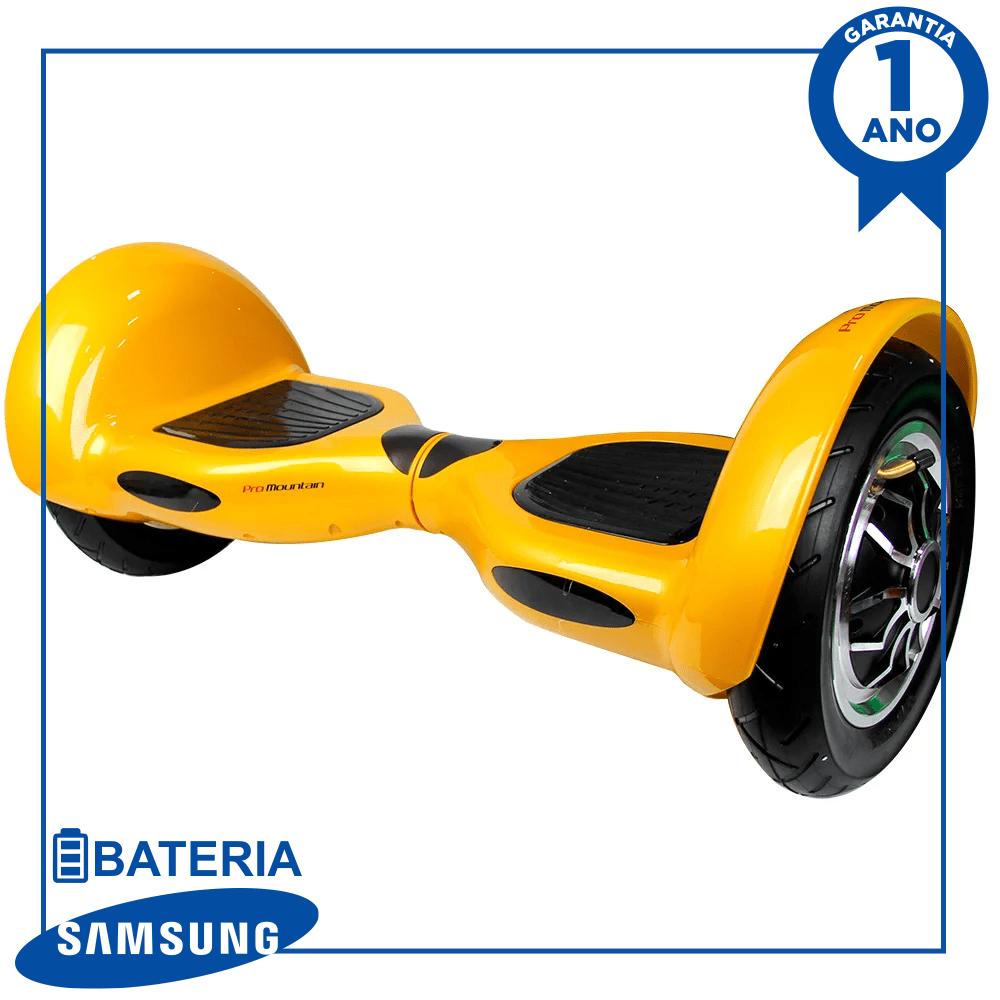 """Hoverboard Skate Elétrico Scooter eletrico smart balance pro mountain pm-08 10"""" com bluetooth e bolsa - dourado"""