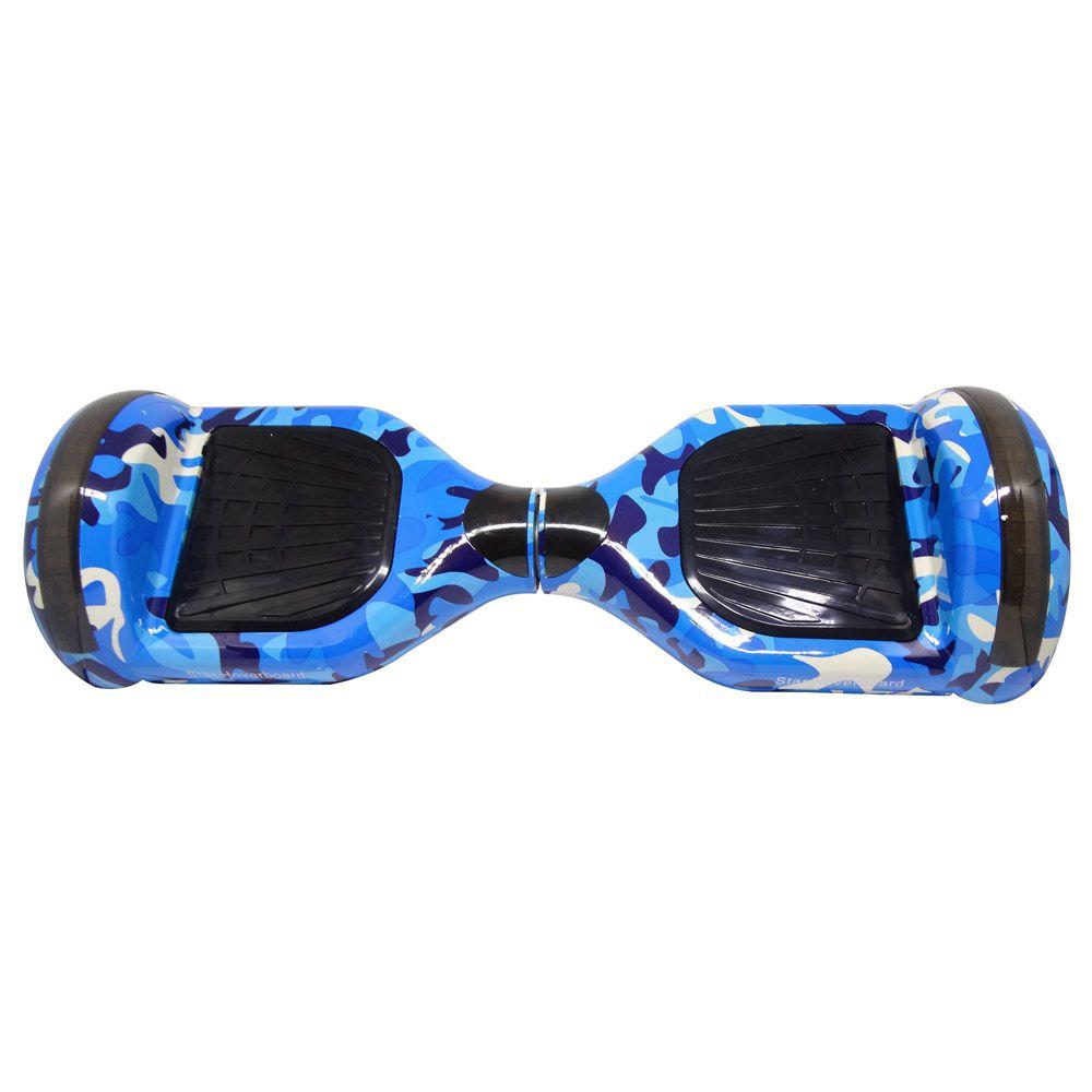 Hoverboard Skate Elétrico Smart Balance Wheel 6,5 Polegadas Azul Camuflado