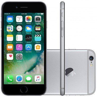 Iphone 6 128gb Tela 4.7' 8mp 4G Apple Cinza Smartphone