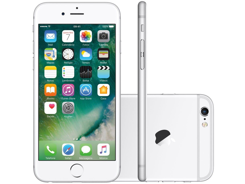 Iphone 6 128gb Tela 4.7' 8mp 4G Apple Prata Smartphone