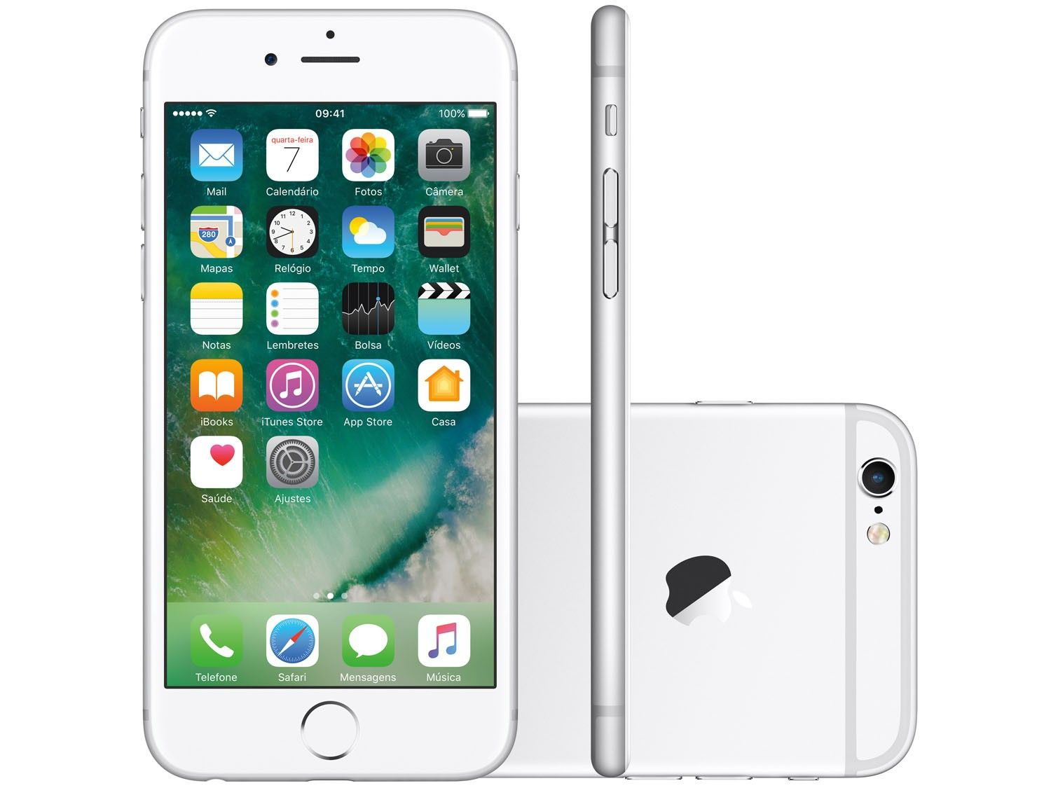 Iphone 6 128gb Tela 4.7' 8mp 4G Apple Prata Smartphone