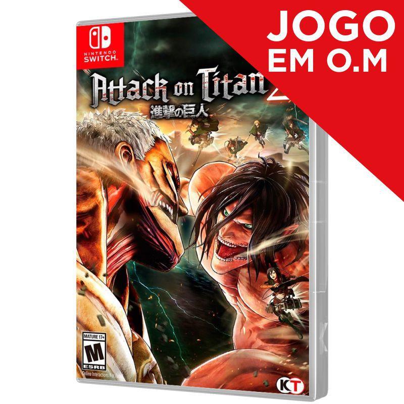 JOGO ATTACK ON TITAN 2 NINTENDO SWITCH (Em O.M)