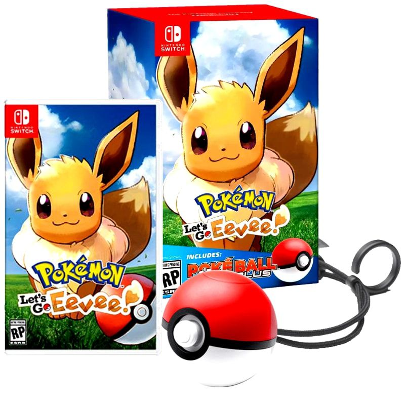 JOGO POKEMON LETS GO EEVEE BUNDLE POKEBALL PLUS NINTENDO SWITCH