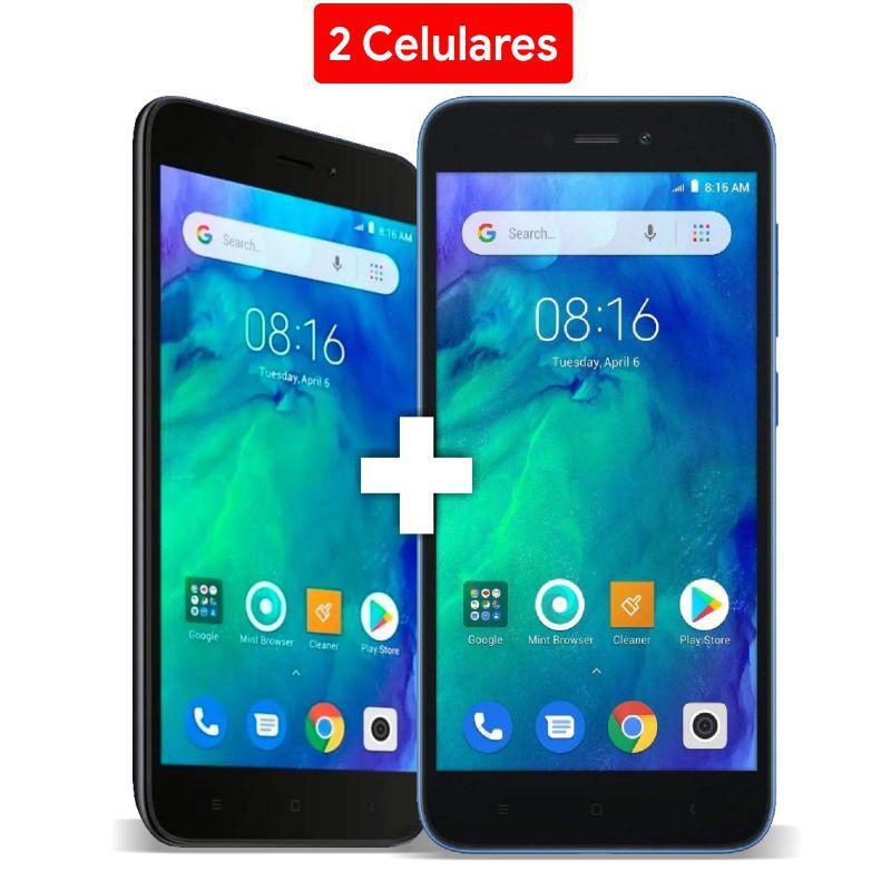 """Kit 2 CELULARES XIAOMI REDMI GO 8GB / 4G / DUAL SIM / TELA 5"""" / CÂMERAS 8MP E 5MP - PRETO - Dia dos namorados"""
