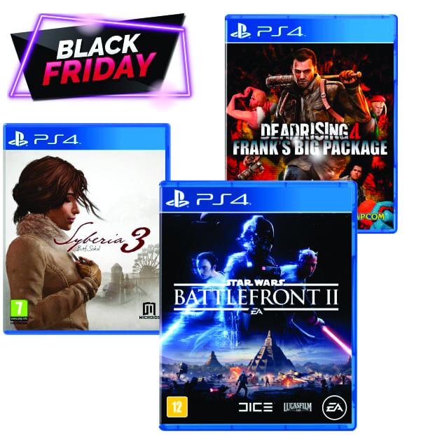 Kit - 7 com 3 Jogos de PS4