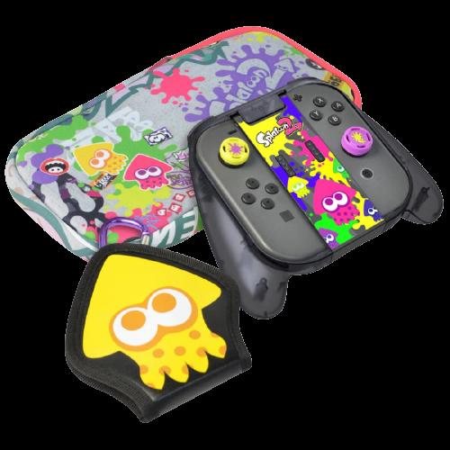 Kit Estojo de Viagem HORI Splatoon 2 Deluxe Splat Pack Nintendo Switch - NSW-049U