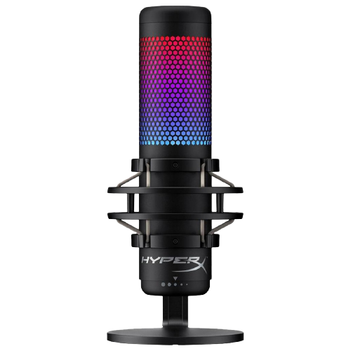 Microfone HyperX QuadCast S RGB HMIQ1S-XX-RG/G com Base - Preto