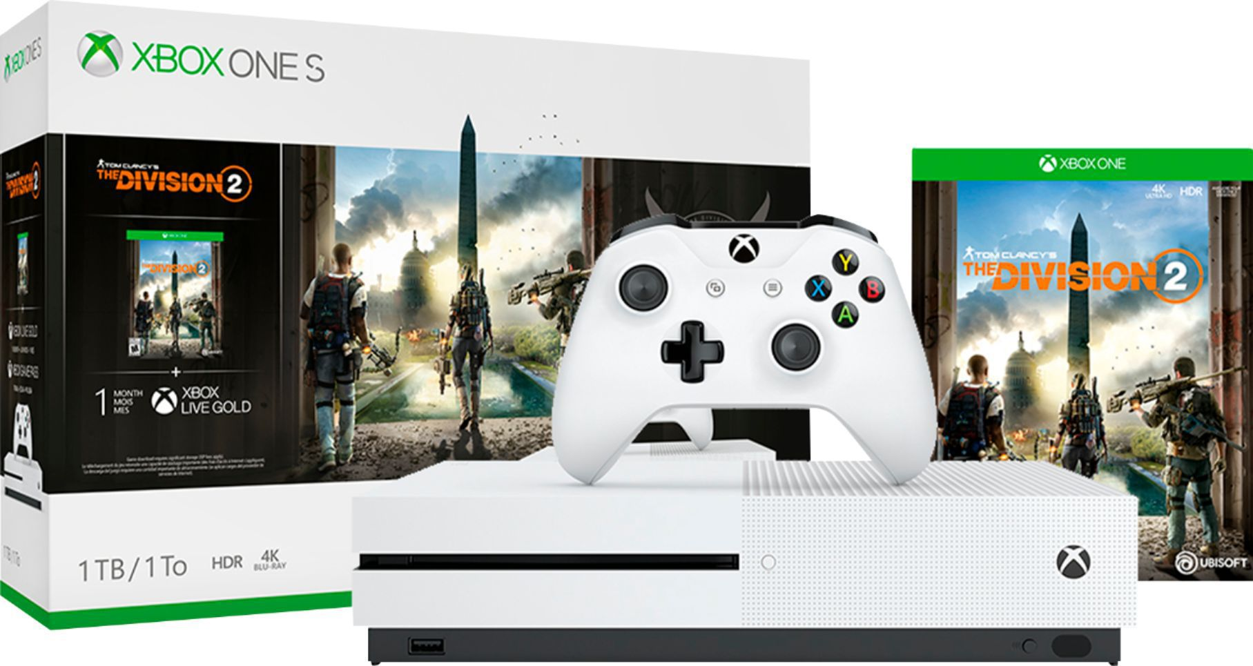 Microsoft Xbox One S 1tb com jogo Tom Clancy's The Division 2 Bundle