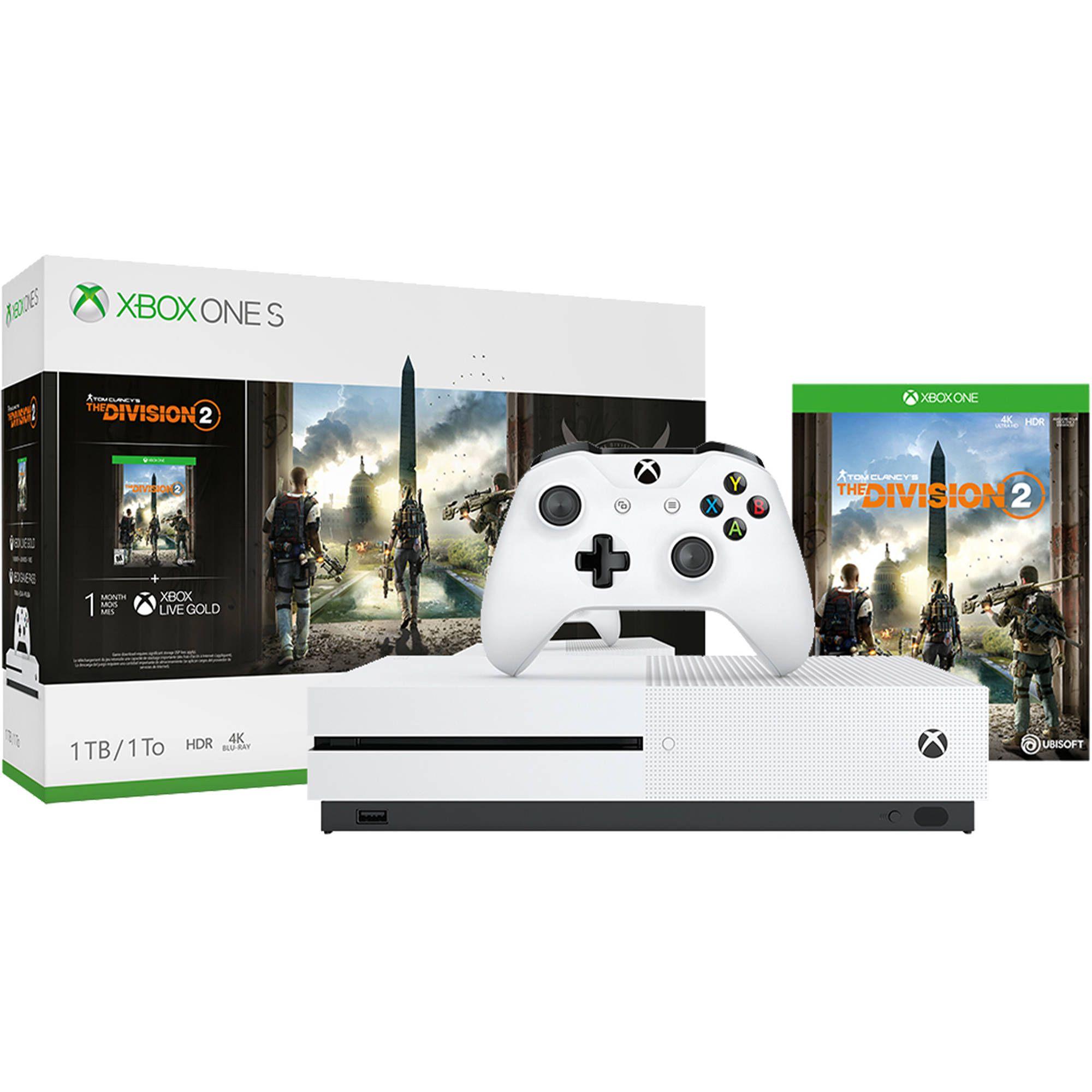 Microsoft Xbox One S 1tb com jogo Tom Clancy's The Division 2 Bundle