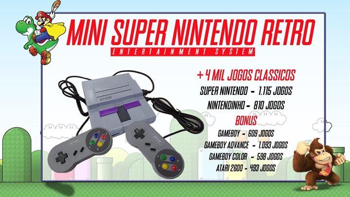 Mini Snes - 4 MIL Jogos retro Super Nintendo