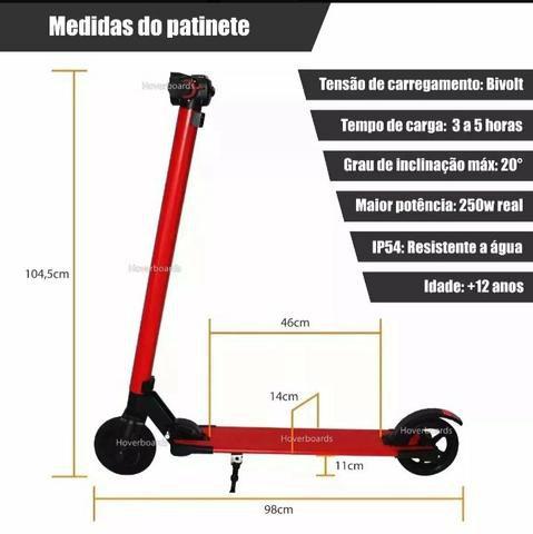 """Patinete Elétrico Foston FS-B02 com Rodas de 6.5"""" - Vermelho"""