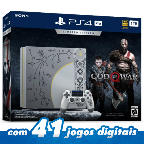 Console PlayStation 4 Pro God of War PS4 Bundle Edição limitada 1Tb (Pré-venda)