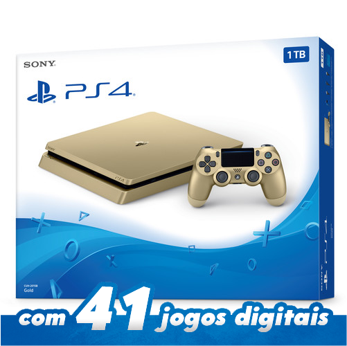 Playstation 4 Gold Edition Ps4 Sony Slim 1tb Dourado