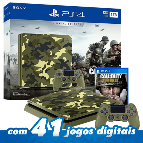 Playstation 4 Slim 1tb Limited Edition Console Bundle Call Of Duty WWII PS4