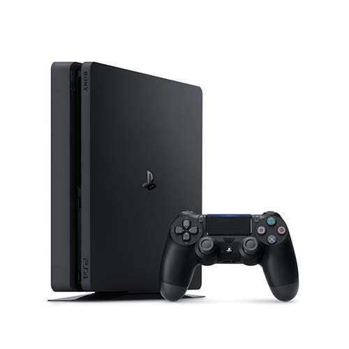 PLAYSTATION 4 SLIM – 500GB BUNDLE + 3 JOGOS: Uncharted 4: A Thief's End, Horizon Zero Dawn e God of War 3: Remastered