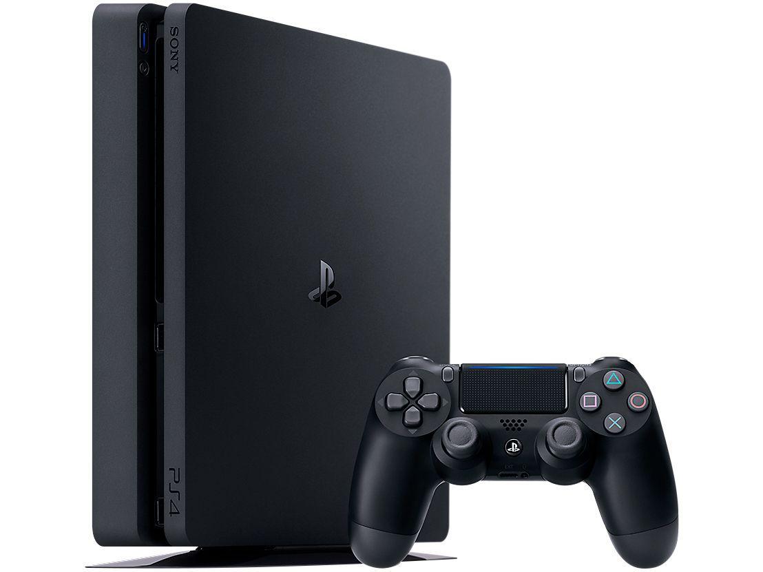 Playstation 4 Slim Hits Bundle 1TB Sony 1 Controle - com 3 Jogos (God of War, Horizon Zero Dawn Complete Edition e Shadow of the Colossus) + 41 JOGOS DIGITAIS