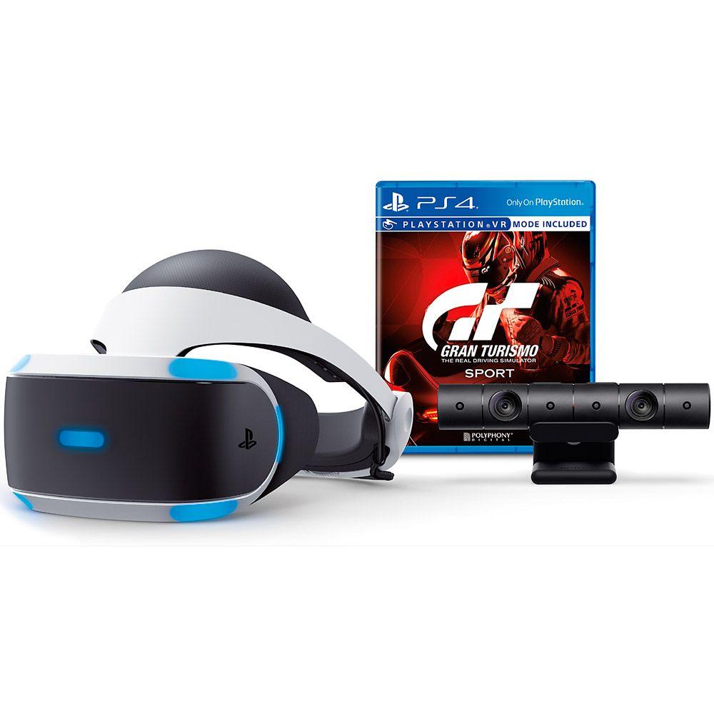 PLAYSTATION VR BUNDLE GRAN TURISMO (Câmera+Jogo Gran Turismo)