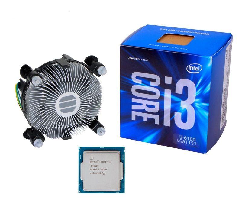 Processador Intel Core i3-6100 3.7GHz 3MB Cache LGA 1151 6º Ger. Skylake