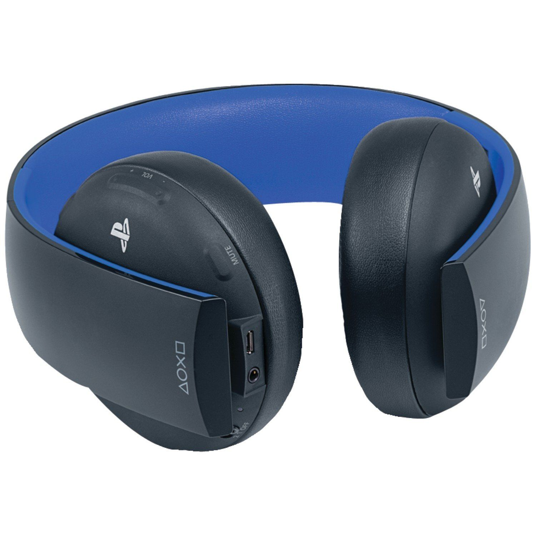 PS4 FONE COM MICROFONE SONY HEADSET GOLD 7.1 PRETO WIRELESS