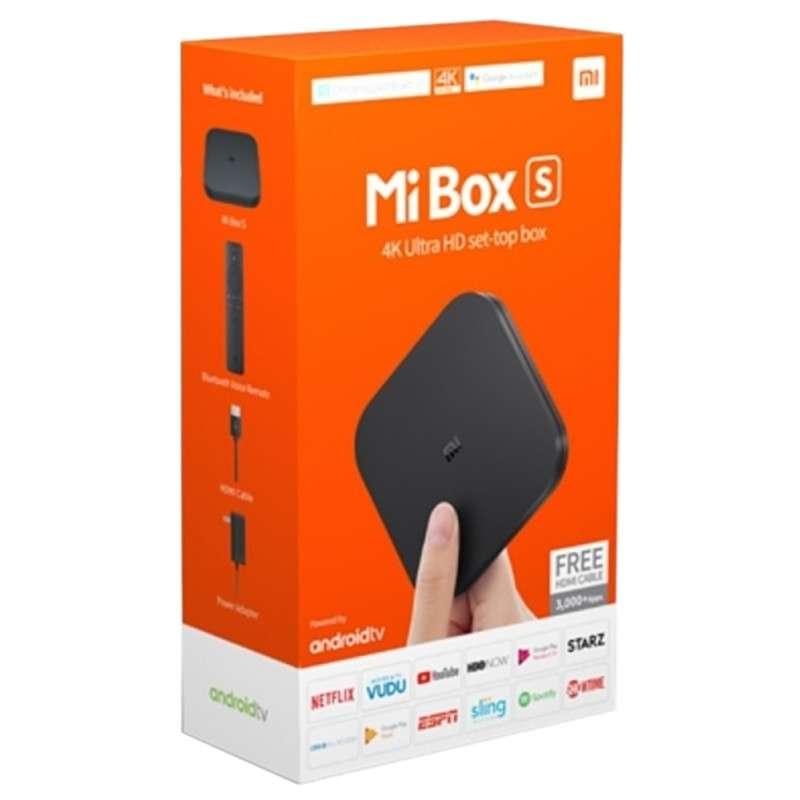 Receptor FTA Xiaomi Mi Box S M19E Android 8.1 4K Wifi Bivolt Preto