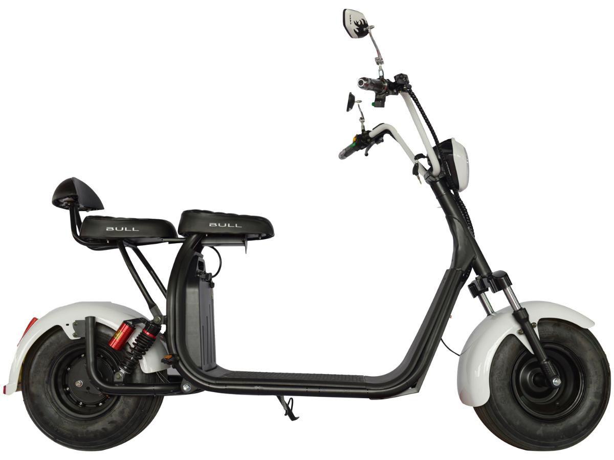 Scooter Aro 8 Motor Elétrico 1000w Até 50kmh Bull Motors Veloce Super Branca