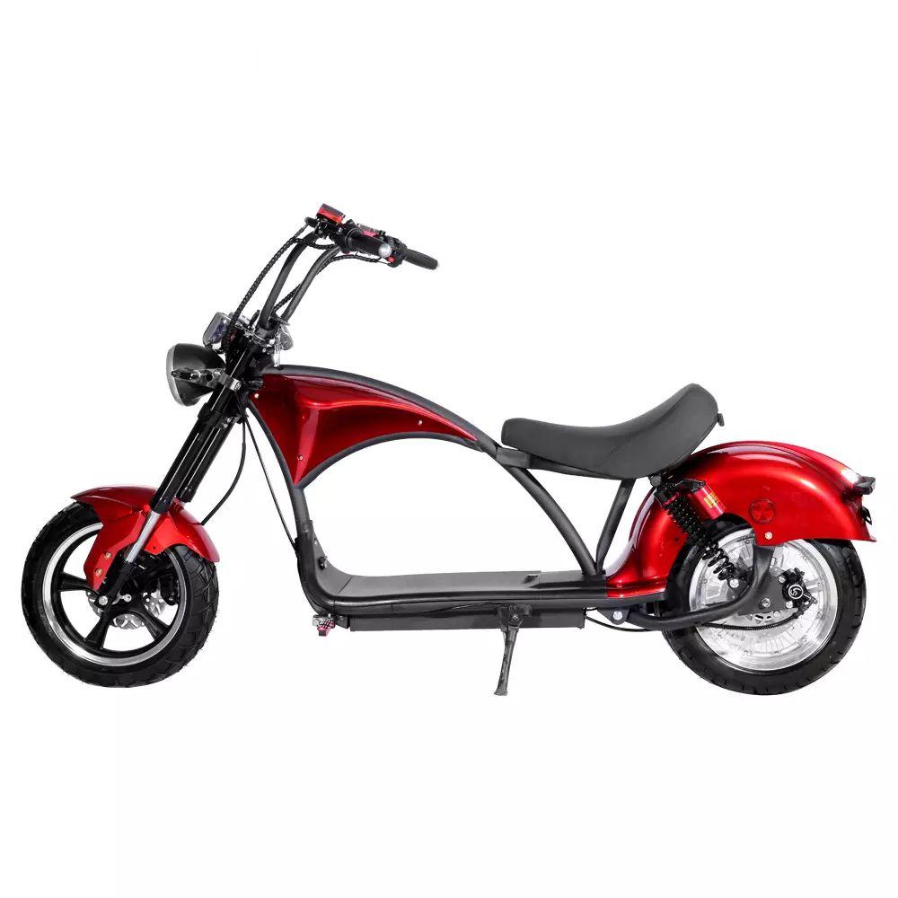 Scooter Aro 8 Motor Elétrico 2000w Até 50kmh e-FUN ELETRICS Vermelha Moto