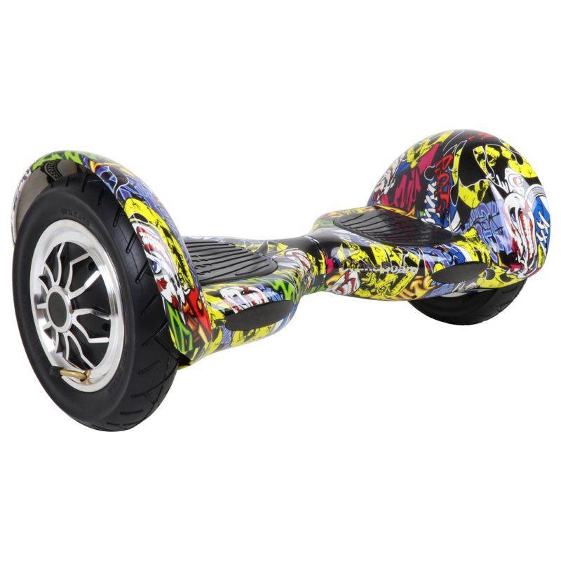"""Scooter Elétrico AlphaBoard com Roda de 10"""" Bluetooth e controle - Amarelo Graffit"""