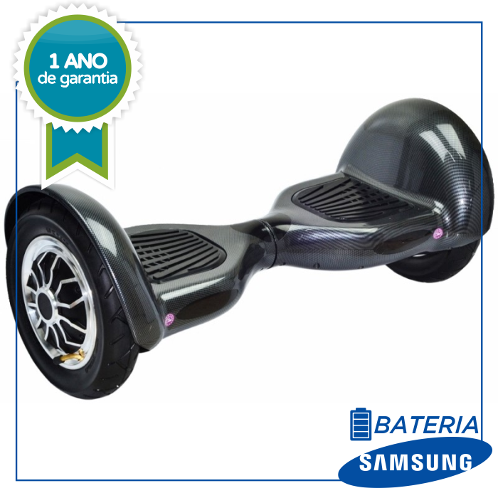 "Scooter Elétrico Hoverboard Audisat 10"" - Pintura Fibra de carbono smart balance"