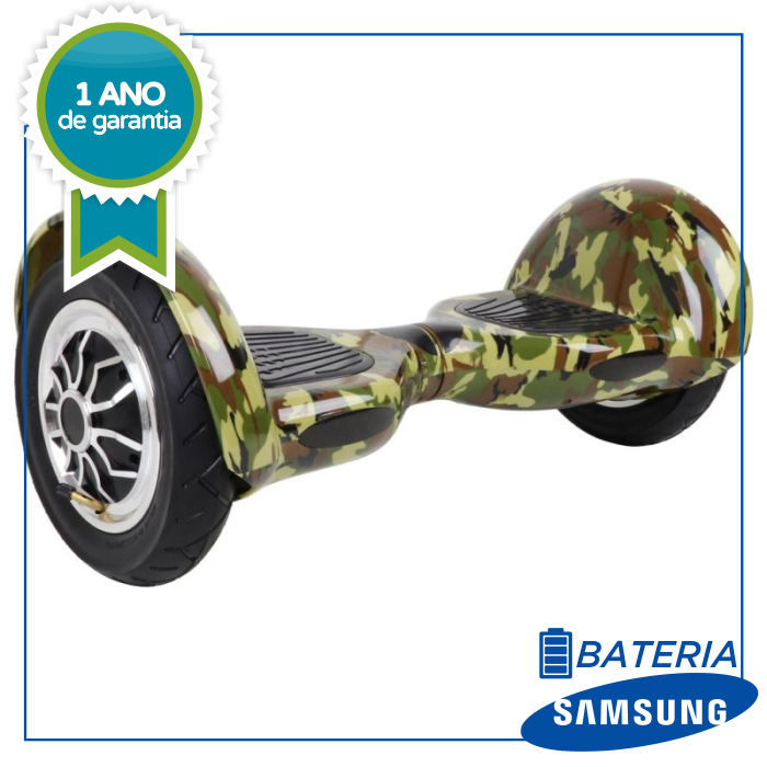 "Scooter Elétrico hoverboard Power Board 10"" - Camuflado smart balance"