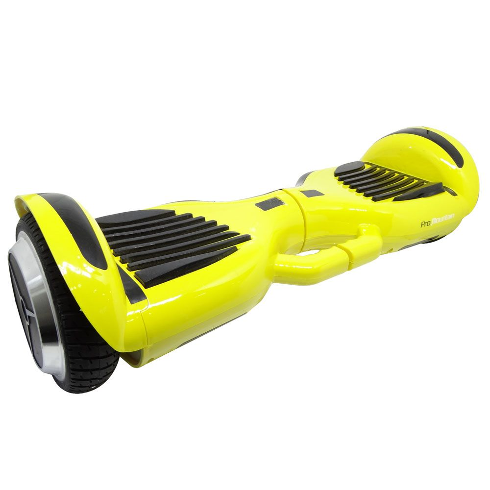 "SCOOTER ELETRICO SMART BALANCE PRO MOUNTAIN 6.5"" NEW PLUS COM ALÇA, LED E BLUETOOTH - AMARELO HOVERBOARD"