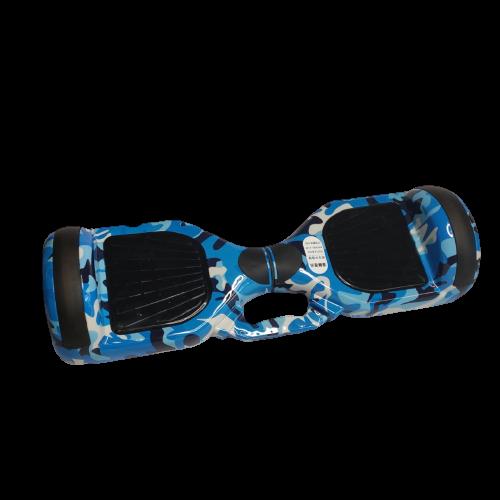 Skate Elétrico Hoverboard 6.5' Azul camuflado Bluetooth e LED - Bateria Samsung - Smart Balance