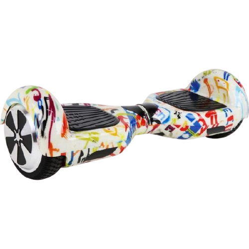 Skate Elétrico Hoverboard 6.5' Branco grafite Bluetooth e LED com Bolsa - Bateria Samsung - Smart Balance
