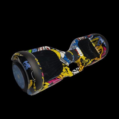 Skate Elétrico Hoverboard 6.5' Hip Hop Bluetooth e LED - Bateria Samsung - Smart Balance