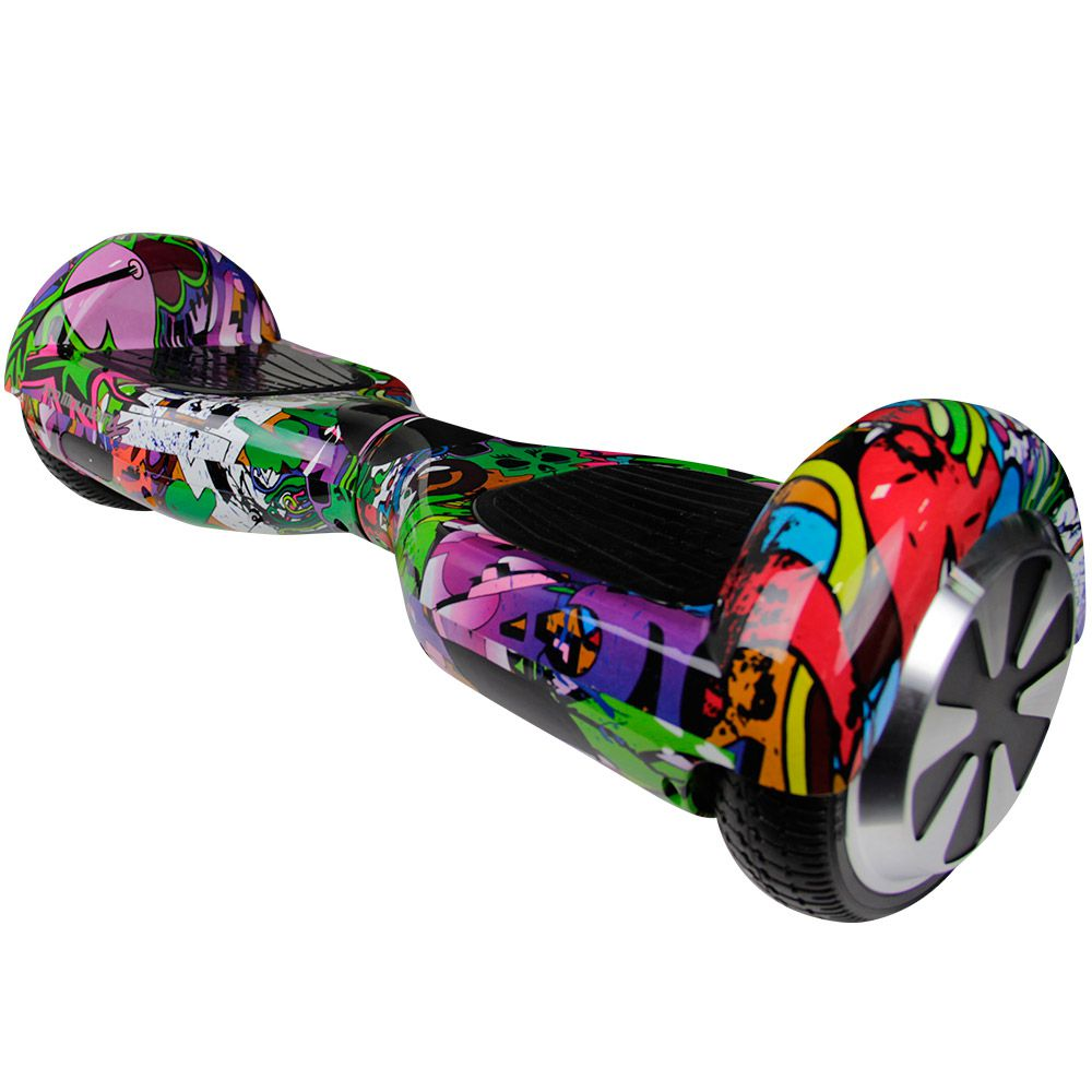 "Skate Elétrico SCOOTER ELETRICO SMART BALANCE PRO MOUNTAIN PM-01 6.5"" COMPLETO - PURPURA GRAFITE"