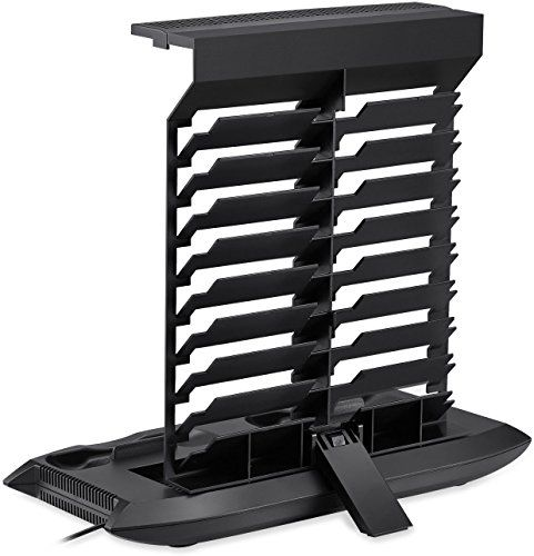 Suporte vertical do console XBox One S + Cooler + Estação de carregamento dupla para o controlador + 4 hubs USB