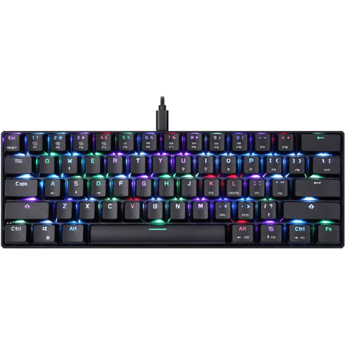 Teclado Gamer Mecânico MotoSpeed CK62 Preto, Switch Blue, RGB
