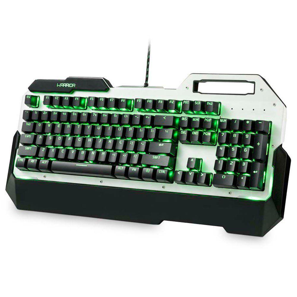 TECLADO GAMER WARRIOR PRETO MECANICO C/ LED SINGLE COLOR USB TC217 MULTILASER