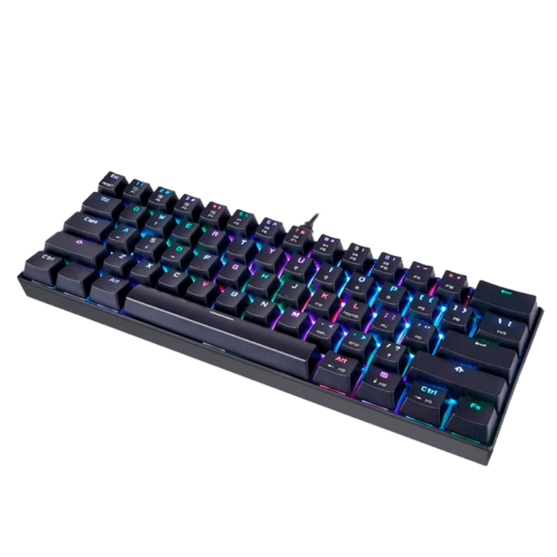 Teclado Mecânico Gamer Motospeed CK61 Compacto, RGB, Switch Blue