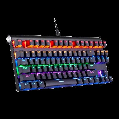 TECLADO MECANICO MOTOSPEED CK83 PRETO RGB SWITCH VERMELHO BLUETOOTH