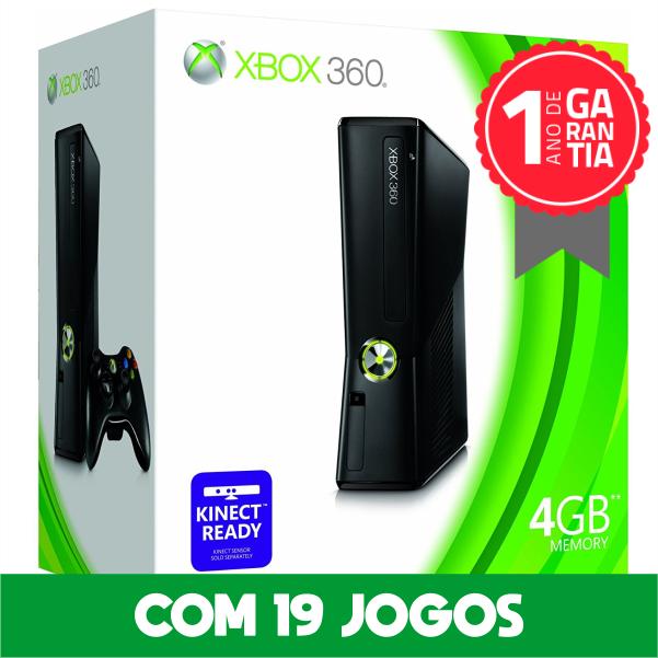 Xbox 360 4GB Seminovo