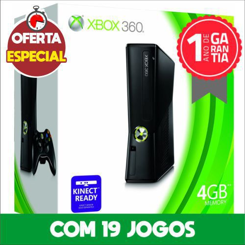 Xbox 360 4GB Seminovo